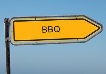 Strassenschild 38b - BBQ