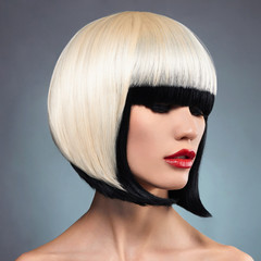 sexy woman with bob hairstyle
