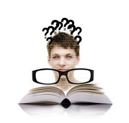 Student, Buch, Brille
