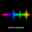 Sound wave background - 81306803