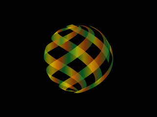 Logo Design vor schwarzem Hintergrund