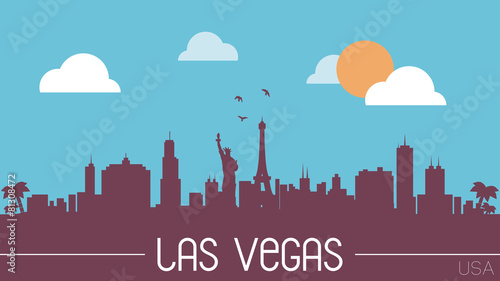 Las Vegas USA skyline silhouette vector design.