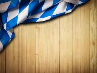 bayrisches Tischtuch auf einer Holzfläche