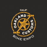 Retro Vector Bike Custom Show Expo Label or Logo Design