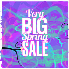 Spring Sale abstract background colorful and  typographic text