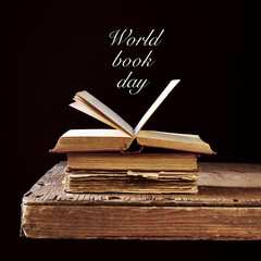 some old books and the text world book day