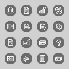 Banking web icons set