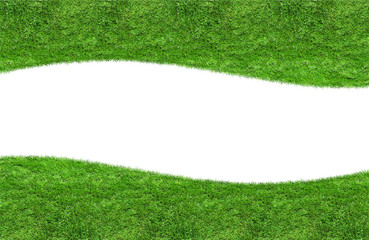 Green grass blank curve isolated
