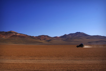 Lonely car at desert