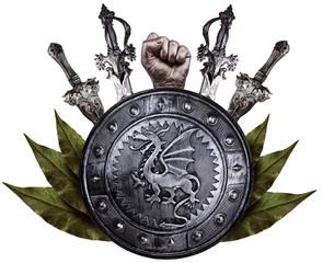 Family coat, shield emblem