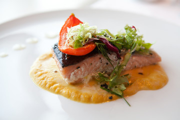 Salmon and Squash Puree