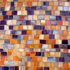 orange and blue mosaic background