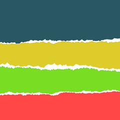papel rasgado de colores