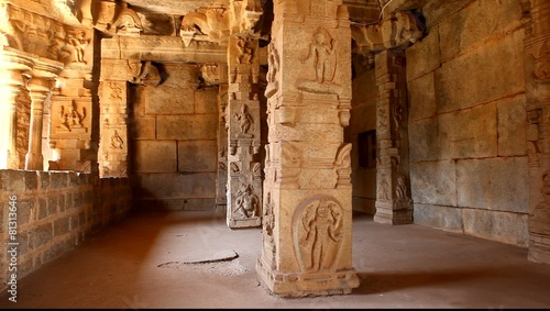 Staande foto Athene Vitala temple Hampi Karnataka India