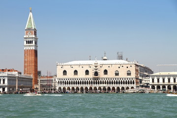 St Mark's Campanile, St. Mark's Square and the Doge's Palace, Ve