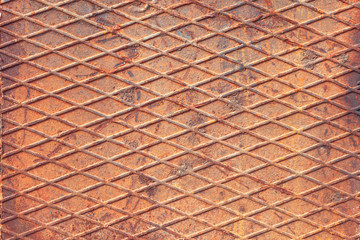 Background image in the form of sheet steel Lozenge corrugated