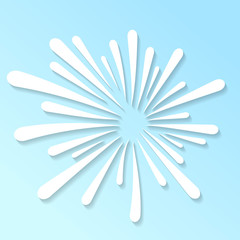 Splash white abstract pattern template