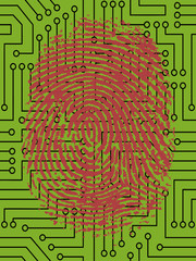 FingerPrint on Circuit Board