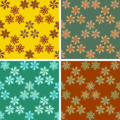 abstract art pattern set
