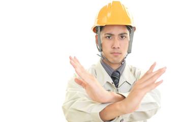 禁止の意思表示をする労働者