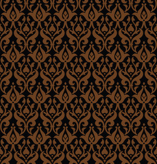 Seamless gothic vector pattern
