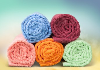 Towel. Five colored towels