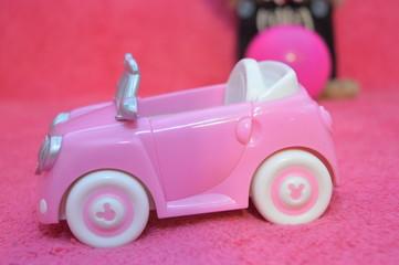 pink children's toy car model