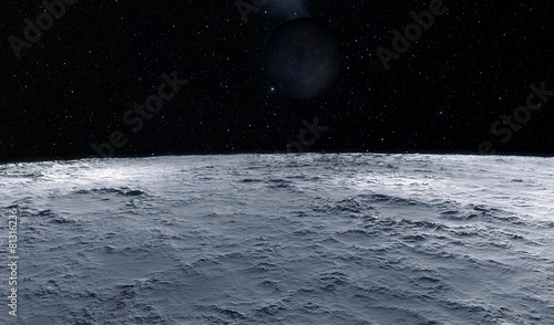 Moon scientific illustration - 81316236