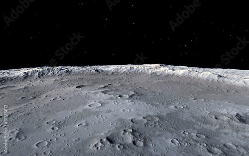 Moon scientific illustration - 81316612