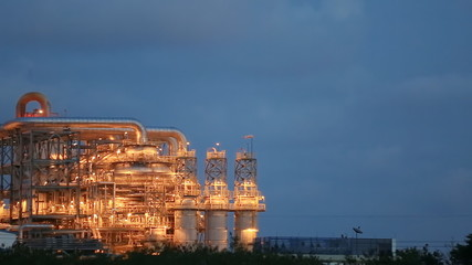 Video panning of Twilight at chemical plant