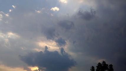 Dark Strom clouds time lapse