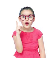 portrait of a girl schoolgirl wearing glasses
