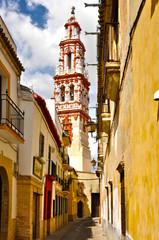 Écija, Sevilla, España, torre de la iglesia de San Juan Bautista