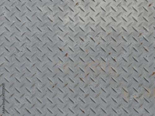 灰色の金属の鉄板