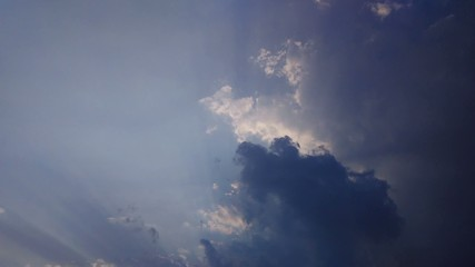 Dark strom clouds