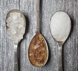 sugar on spoon