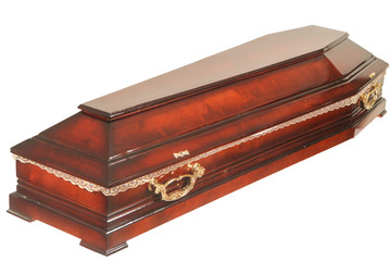 Coffin on the white background