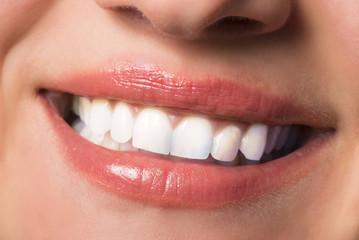 Beautiful teeth macro shot.