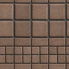 Brown Paving Slabs Lined with Squares of Different Value and