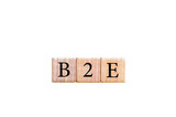 Acronym B2E - Business to employee isolated with copy space poster