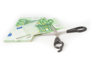 Money cutting financial savings budget