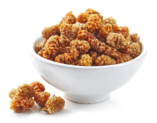 bowl of dried mulberries
