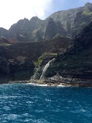 Waterfall on the Napali Coast of Kauai