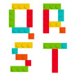 Alphabet set made of toy construction brick blocks isolated iso - 81322806