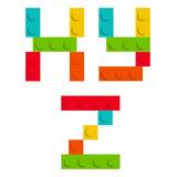 Alphabet set made of toy construction brick blocks isolated iso - 81322820