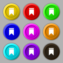 Web stickers, tags and banners. Sale icon sign. symbol on nine r