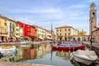 Leinwanddruck Bild - Lazise, Lago di Garda, Italy