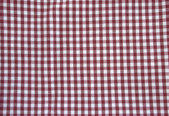 cloth material cotton, square pattern in red