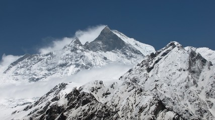 Machapuchare, view from Mchapuchare Base Camp