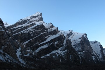 Harsh mountains on the way to the Annapurna Base Camp